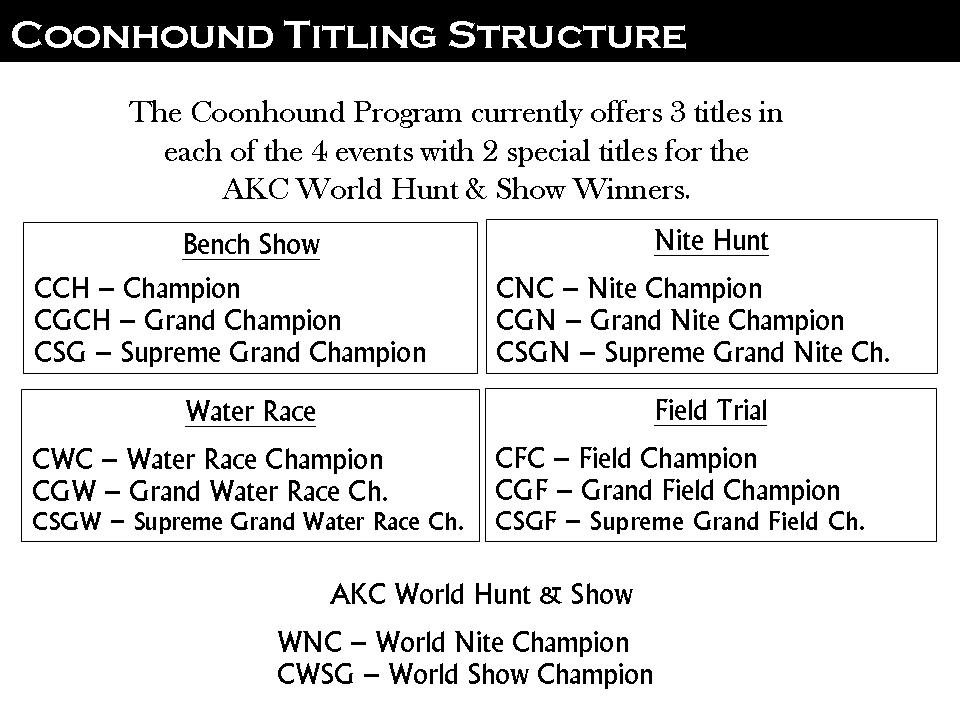 COONHOUNT TITLE STRUCTURE